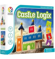 Let's build castles. Three to four-year-olds can start playing Castle Logix, a unique multi-level logic game. Seven different hardwood towers and blocks give 48 surprising challenges ranging from very easy to extremently difficult. Logic Games, Logic Puzzles, 3d Puzzles, Delaware, Preschool Puzzles, Brain Teaser Puzzles, Popular Kids Toys, Junior Year, Construction
