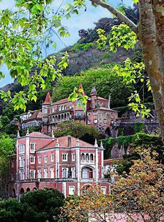 Palaces - Sintra, Lisboa ,Portugal. Started as a farm in 1470 and eventualy transformed into a Palace