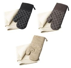 100% Cotton Oven Cloth & Magnetic Silicone Oven Glove Set (Various Colours)