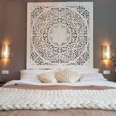 Finest artisan made home treasures from around the world. Interior Design Photography, Room Interior Design, Canvas Art Projects, Cosy Bed, Bedroom Decor, Wall Decor, Master Bedroom, Dreams Beds, Flower Wall