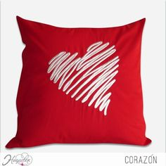 Corazón  Cojín romántico. ... Cute Pillows, Diy Pillows, Floor Pillows, Decorative Pillows, Throw Pillows, Cushion Cover Designs, Cushion Covers, Pillow Covers, Valentine Decorations