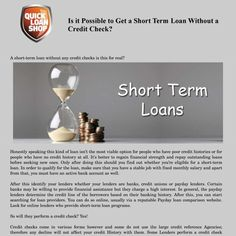 Is it Possible to Get a Short Term Loan Without a Credit Check?