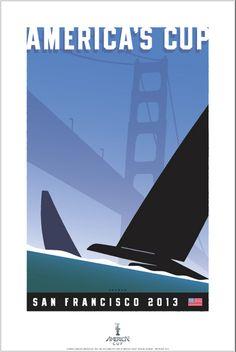 America's Cup - San Francisco 2013: poster by Michael Schwab