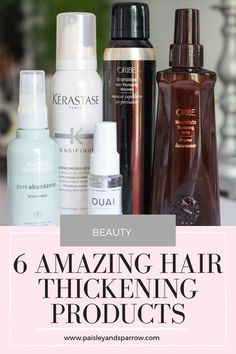 6 Amazing Hair Thickening Products – Paisley + Sparrow I have pretty thin, fine hair so I rely on my products to thicken things up and make my hair look more full than it actually is. These are 6 Amazing Hair Thickening products that actually work! Damp Hair Styles, Medium Hair Styles, Curly Hair Styles, Natural Hair Styles, Natural Beauty, Beauty Tips, Thicken Hair Naturally, Different Hair Types, Fine Hair