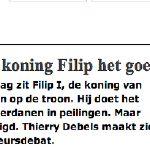 Koning Filip doet het goed... met regie @karl_drabbe #boeke... on Twitpic