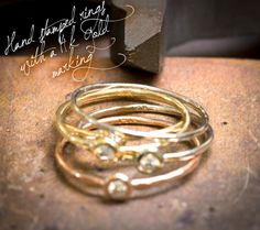 Melanie Casey - inside stacking rings stamped with 14k markings
