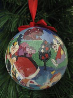 Disney Alice Wonderland Tea Party Christmas Ornament Cheshire Cat Queen Hearts | eBay