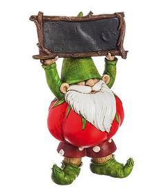 This Gnome & Chalkboard Hand Sign Figurine is perfect! #zulilyfinds