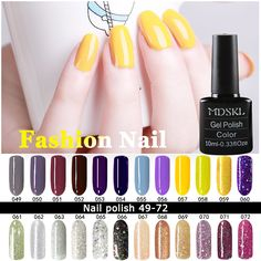 Nail Gel MDSKL Gel UV Vernis Semi Permanent UV Nail Gel Polish Soak Off Long Lasting LED Nail Polish Gel Lacquer 132 Colours ** AliExpress Affiliate's Pin. View this nail care item in details now by clicking the image. Nails Polish, Uv Nails, Nails Inc, Swag Nails, Nail Gel, Funky Nail Art, Funky Nails, Led, Semi Permanente