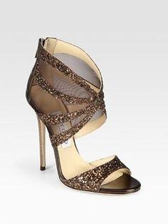 Glitter Acabado Del Cuero > Zapatos #1119585 - Weddbook
