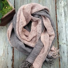 Organic handwoven shawl / scarf with natural dyed by ikatandme