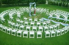this is a cool seating idea...Weddings at Eagle Hills Golf Course