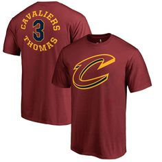 f284cff1bf2 Isaiah Thomas Cleveland Cavaliers Fanatics Branded Round About Name   Number  T-Shirt – Burgundy. Lebron James Cleveland ...