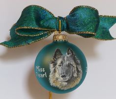 A handpainted portrait Christmas ornament, from your photographs