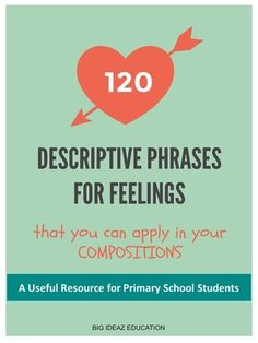 Primary school students can learn these descriptive phrases to let their composition stand out from the crowd, Here is a list of 120 phrases that students can use to vividly describe their characters' feelings, which is an important area to focus on in Pr