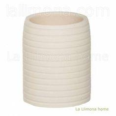 Vaso de baño modelo círculos sand. http://www.lallimona.com/online/bano/