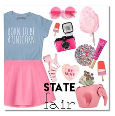"""""""The State Fair"""" by stavrolga ❤ liked on Polyvore featuring Deborah Lippmann, Loewe, Too Faced Cosmetics, RED Valentino, F, JuJu, Kate Spade, statefair, polyvoreeditorial and polyvorecontest"""