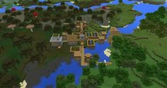 -1583618877: Swamp Village Seed for Minecraft PE