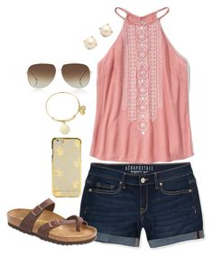 """"""""""" by mmorgann ❤ liked on Polyvore featuring Dita, Aéropostale, Abercrombie & Fitch, Birkenstock, Kate Spade and Alex and Ani"""