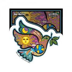 Dan Morris - Peace Dove Holding An Olive Branch - Sticker / Decal
