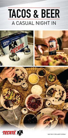 A Casual Winter's Night in with Tecate Light Simple Beer Recipe, Mexican Beer, Taco Recipe, Beer Recipes, Winter Night, Empanadas, International Recipes, Picnics, Cooking Time