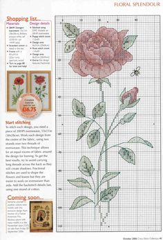 Cross Stitch Collection 136 October 2006 - rose
