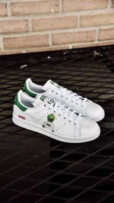 1257fd81b613 Customized Supreme Kermit Stan Smith Shoes FW18 SS18  fashion  clothing   shoes  accessories