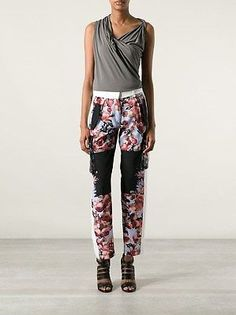 Givenchy 3000$ Silk Multi-colour Floral Cargo Pants Trousers Fr38 ...