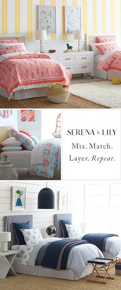 Room to grow. Fresh looks to mix and match, from the cheerful to the sophisticated. Finally, kids' bedding that both you and the little ones will love.