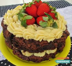 Naked Brownie Cake - Amando Cozinhar - Receitas, dicas de culinária, decoração e muito mais!