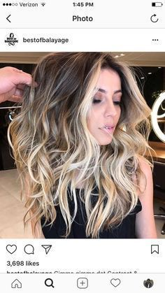 """Modern Hair Color Ideas ~ Balayage ~ Gorgeous color! Follow me on Pinterest @ Melissa Riley for more modern hair color and style ideas. Ranked # 3 on Google """"modern eye makeup ideas"""". Follow my boards for modern wedding dress collections, unique wedding p"""