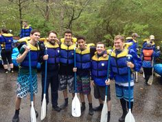 Happy to go rafting on a gloomy rainy day!