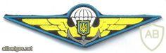 UKRAINE Naval Infantry parachutist jump wings, full color