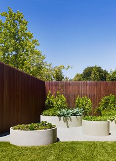 Organic Gardening Supplies Needed For Newbies Concrete Pipe Planters With Herbs And Veg Jack Merlo - Photo: Peter Carke Small Vegetable Gardens, Veg Garden, Edible Garden, Garden Planters, Back Gardens, Outdoor Gardens, Landscape Design, Garden Design, Raised Planter