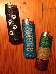 Rasta Glitter Lighter