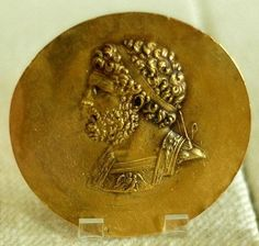 Niketerion (victory medallion) bearing the effigy of king Philip II of Macedon, 3nd century AD, probably minted during the reign of Emperor Alexander Severus.