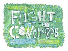 flight of the conchords - handprinted gigposter boston