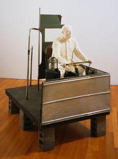 "George Segal (Pop art american) ""The Bus Driver"" 1962 Parts Of The Mass, Moma Art, James Rosenquist, George Segal, Life Cast, Arte Online, Claes Oldenburg, Pop Art Movement, Jasper Johns"