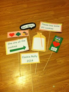 Photo props for Cookie Booths and rallies.