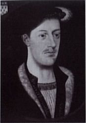 Sir Francis Weston, one of 5 men accused of adultery with Queen Anne Boleyn and executed for treason.  The others included Anne's brother George Boleyn, Viscount Rochford; Sir Henry Norris; court musician Mark Smeaton; and Sir William Brereton.  Most historians now agree that the accusations were unlikely to be true.