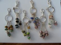 Charm Bead Key Chain/ Bag Charm by Infinitijewellery on Etsy, £5.00