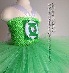 Green Lantern Inspired Tutu dress Superhero by JessicaLilyLove