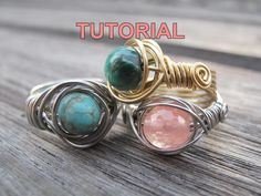 Handmade Wire Jewelry, Diy Jewelry, Beaded Jewelry, Beaded Rings, Jewlery, Jewelry Ideas, Wire Jewellery, Diy Crystal Rings, Earrings Handmade