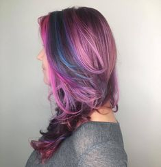 Many different unicorn tones all inspired by the Pantone colour of the year. Lightened with Schwarzkopf and magicked with Elumen....