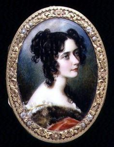 Portrait Miniature of Georgina Carolina, Lady Astley (c.1827) by S. J. Rochard.