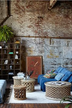 Choosing an area rug that's too small (ideal to have furniture touching rug, which can cramp a room) | Anthropologie