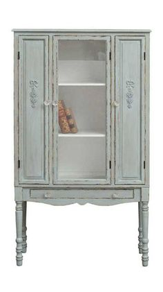 Tall Gray Cottage Sideboard ==