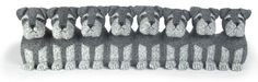 Sugar Bears Family Schnauzer Draught Excluder By Dora Designs