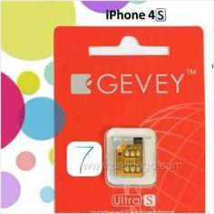 GEVEY ULTRA S IOS 7 7.1.1 7.1.2 7.1.3 UNLOCK SIM CARD AT&T ANY GSM IPHONE 4S