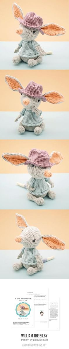 William the Bilby amigurumi pattern